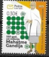 MONTENEGRO, 2019, MNH,GANDHI,  1v - Mahatma Gandhi