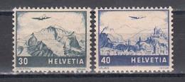 Switzerland 1948 - Plane Over Landscapes, Mi-Nr. 506/07, MNH** - Switzerland