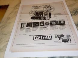 ANCIENNE PUBLICITE PROJECTION EUMIG 1975 - Fotografia