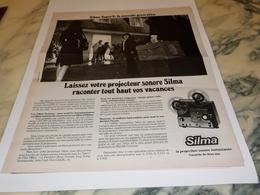 ANCIENNE PUBLICITE PROJECTION SILMA  1975 - Fotografia