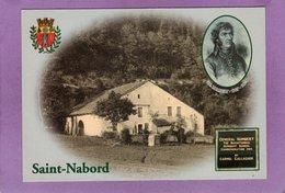 Saint Nabord La Coâre Maison Natale Du Général Humbert Stèle A CASTLEBAR Hommage Des IRLANDAIS  Carte N° 037 - Saint Nabord