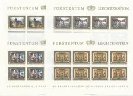 Zumstein 644-647 / Michel 706-709 Bogen-Serie Einwandfrei Postfrisch/** - Blocks & Kleinbögen