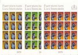 Zumstein 663-665 / Michel 725-727 Bogen-Serie Einwandfrei Postfrisch/** - Blocks & Kleinbögen