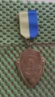 Medaille :Netherlands  -  W.V De Trekkers Borne - 15-4-1989  / Vintage Medal - Walking Association . - Nederland
