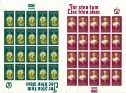 Zumstein 679-680 / Michel 741-742 Bogen-Serie Einwandfrei Postfrisch/** - Blocks & Kleinbögen