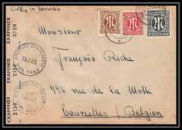 5978 Lettre Guerre War 1939/1945 Censuré Allemagne Germany Pour Courcelles Belgique (Belgium) 1946 - Poststempel (Briefe)