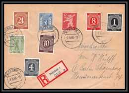 6005 Lettre Recommandé Guerre War 1939/1945 Potsdam 1946 Berlin Allemagne (germany) Bel Affranchissement - Poststempel (Briefe)