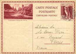 Entier Postal 20 HELVETIA  KLOSTERS  + Beau Cachet GENEVE  Les Eaux Vives RV - GR Graubünden