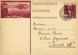 Entier Postal 20 HELVETIA  VITZNAU  + Beau Cachet Regional Palézirux Bulle Montbonon  RV - LU Luzern