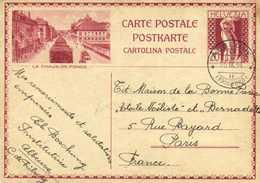Entier Postal 20 HELVETIA  LA CHAUX DE FONDS  + Beau Cachet ALBEUVE  FRIBOURG     RV - BE Bern