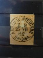 Suisse 20 R Orange Helvatia  Non Dentelée - 1854-1862 Helvetia (Imperforates)