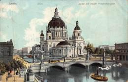 BERLIN GERMANY~DOM~SPREE Mit KAISER FRIEDRICHBRUKE~1908 GEORG STILKE POSTCARD 42973 - Deutschland
