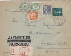 Env Recommandée ( Tarif 3f50) T.P. Ob Cad Strasbourg Neudorf 8 1 35 Pour Berlin Allemagne - 1921-1960: Modern Tijdperk