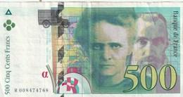500 Francs - Marie Curie / Pierre Curie 1994 - 1992-2000 Ultima Gama