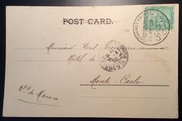"""Egypt """"CATARACT HOTEL ASSOUAN 1903"""" Cds>MONACO ! (ppc Cp Tombeaux Des Kalifes Egypte Lettre Cover - Egypt"""