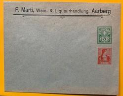 9798 -  Enveloppe Privée  F.Marti Wein & Liquerhandlung Aarberg 5 Ct + 10 Ct Neuve - Entiers Postaux