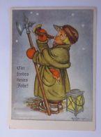 """""""Weihnachten, Nachtwächter, Laterne, Horn"""" 1950,  Tilly Baumgarten ♥  - Noël"""