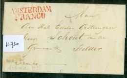 BRIEFOMSLAG Uit 1826 Gelopen Van FRANCO AMSTERDAM Naar SCHOUT Te HELDER  (11.730) - Nederland