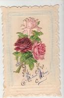 CPA Carte Decoupis Bonne Année Fleurs - Nouvel An