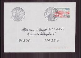 Enveloppe Du 18 Mai 1991 De Fontenay-le-Comte Pour Massy Cachet Congrès Philatélique à Perpignan - France