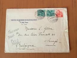 YT 290 - 312 Sur Lettre Hotel Bahnhof Schaffhausen En 1946 - Switzerland