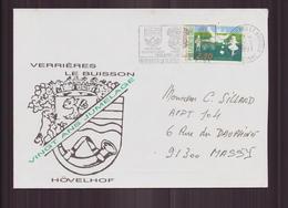 """Enveloppe Du 22 Mai 1991 Pour Massy """" 20 Ans Jumelage Verrières Le Buisson - Hövelhof """" - France"""
