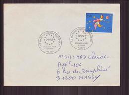 """Enveloppe Du 6 Novembre 1992 Pour Massy Cachet """" Le Marché Unique Européen """" - France"""