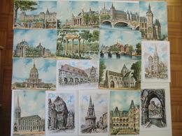 LOT 160 CP Différentes - Illustrateur BARDAY, CHARLEMAGNE Et Autres - M. Barré & J. Dayez (villes, Villages) - Cartes Postales