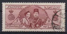 E080 – EGYPTE – EGYPT – 1938 – ROYAL WEDDING KING FAROUK & QUEEN FARIDA – MI # 240 USED - Egypt