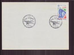 """Enveloppe Du 17 Juin 1991 Cachet """" Salon Aéronautique Et Espace Au Bourget """" - France"""