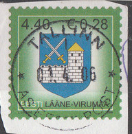 PIA  - 2001 : ESTONIA : Stemma Della Contea Di Laane-Viru - (Yv 667) - Estonia