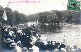 94 - Carte Photo - La Varenne 1910 - Fête Nautique - Jeux - Le Mât Horizontal (était Il Savonné??) - Otros Municipios