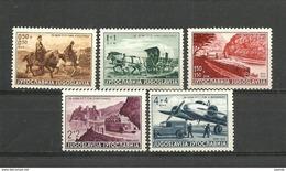 1939 Yugoslavia  Postal Workers Transportation Mi No 370-74 MNH** - Nuovi