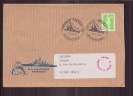 """Enveloppe Du 27 Juillet 1995 De Eysines Pour Massy Cachet """" Croiseur Colbert """" - France"""