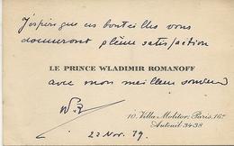PRINCE WLADIMIR ROMANOFF + AUTOGRAPHE - Visitenkarten