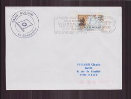 """Enveloppe Du 27 Mai 1992 Pour Massy Cachet """" Saint Roland, Le Commandant """" - France"""