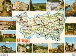 D88  Carte Du Département En Carte Postale - France