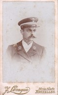 CONGO Photo CDV Homme Force Publique étoile De Service Par LEVAQUE De Bruxelles Entre 1890 Et 1900 - Anciennes (Av. 1900)