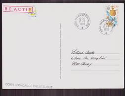 """Carte Du 17 Septembre 1992 Pour Massy Cachet """" Toulon Secteur Marine """" - France"""