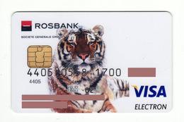 Rosbank RUSSIA Tiger VISA Expired 2002 - Cartes De Crédit (expiration Min. 10 Ans)