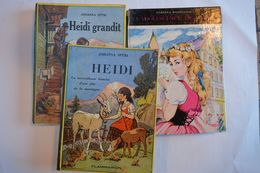 Livre Flammarion Johanna Spyri : Heidi - Heidi Grandit ; Adriana Badellino : L'adolescence D'Heidi Hemma Ed Belgique - Otros