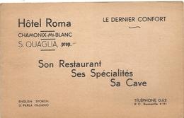 CHAMONIX . DEPLIANT 4 VUES HOTEL ROMA - Werbung