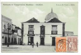 Cpa...Portugal...OLHAO...Farmacia Do Compromisso Maritimo.....Lazaro Da Costa.....animée..1920... - Beja