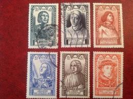 YT 765 766 767 768 769 770 Villon Fouquet Commynes Jeanne D'arc Gerson Charles VII - Usati