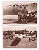 LOT DE 10 CARTES D AVIONS - 5 - 99 Postkaarten