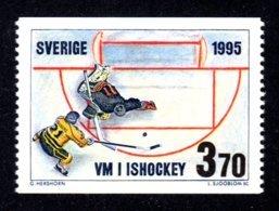 SUEDE 1995 - YT 1863 - Facit 1886 - NEUF ** LUXE/ MNH - Championnats Du Monde De Hockey Sur Glace - Sweden
