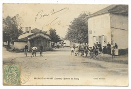 40-SAUGNAC-ET-MURET-Entrée Du Bourg...1907  Animé - Francia