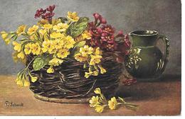 Illustrator - P. Schmidt -  Blumen, Flowers, Des Fleurs, Floreale, Vase / 1907 - Autres Illustrateurs
