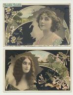 Lot De 2 Cartes - Artistes - Desprez Et Rita Del Erido - Photographe Reutlinger - Illustrateurs & Photographes