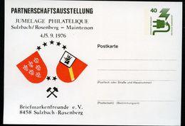 STADTWAPPEN SULZBACH-ROSENBERG + MAINTENON 1976  Bund PP69 D2/023  NGK 3,00 € - Briefe U. Dokumente